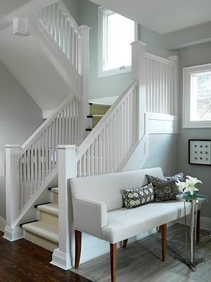 White Stair Case