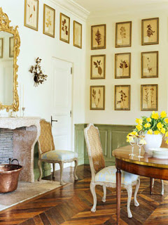 Room With Botanical Prints Yellow Walls