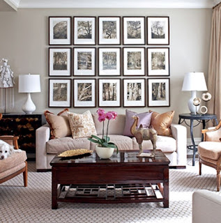 Modern Living Room With Bontanical Prints