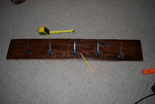 DIY Barn Board Coat Rack