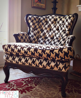 Houndstooth Pattern Chair