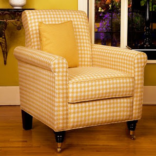 Houndstooth Pattern ArmChair