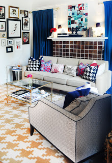 Houndstooth Pattern Living Room