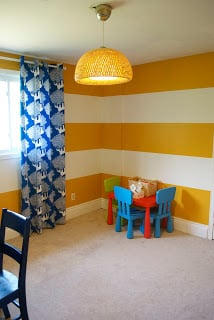 Toy Room With Stripe Walls