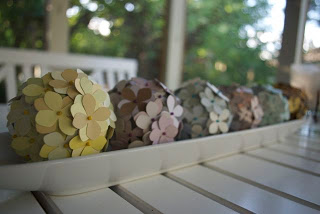 DIY Decorative Balls with Paint Chips