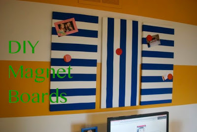 DIY Fabric Covered Magnet Boards