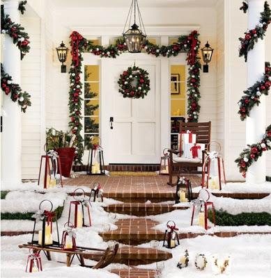 Exterior Christmas Home