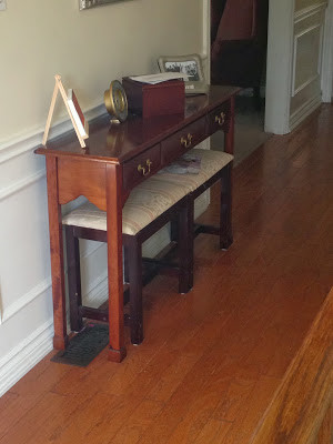 Console Table to Sofa Table