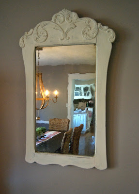 Mirror Painted With Chlk Finish Paint