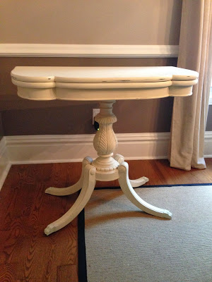 Card Table Painted With Chalk Finish Paint