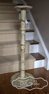 Candlestick Painted With Chalk Finish Paint
