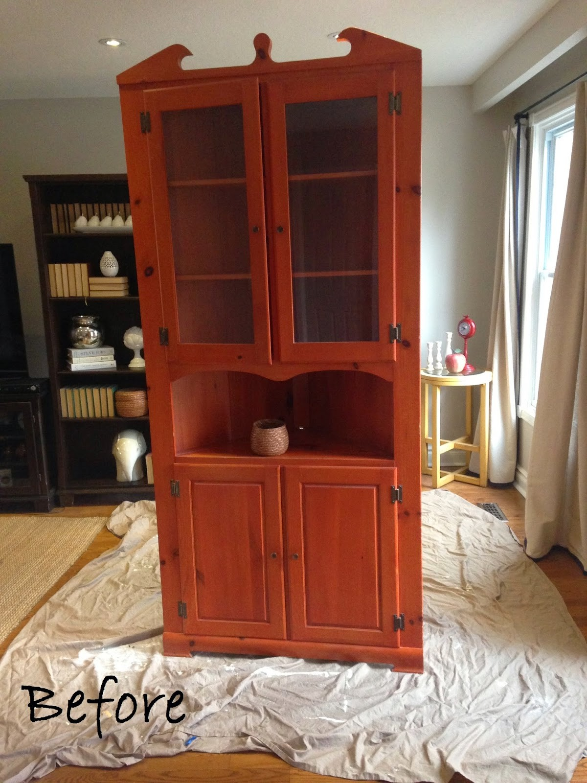 Corner Hutch with Chalk Board Paint