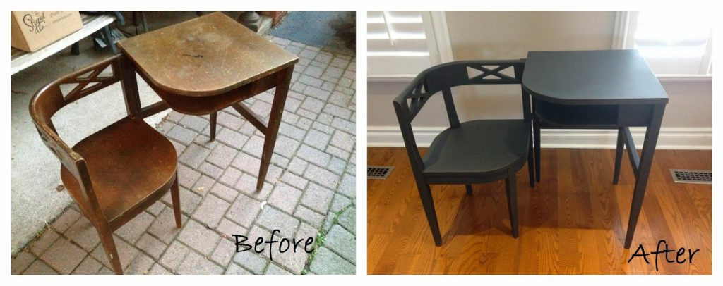 Telephone Table Before/After