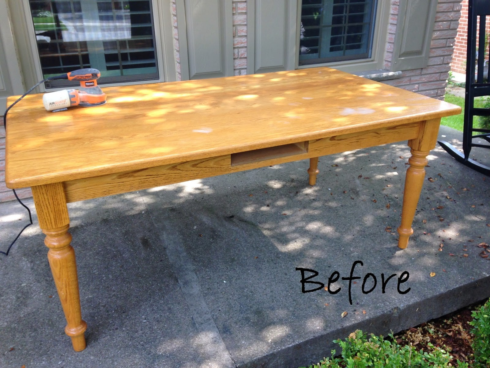Oak Table Before & After