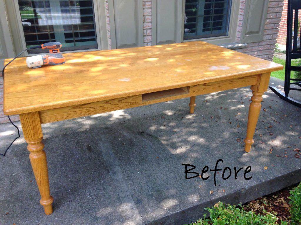 Oak Table - Before