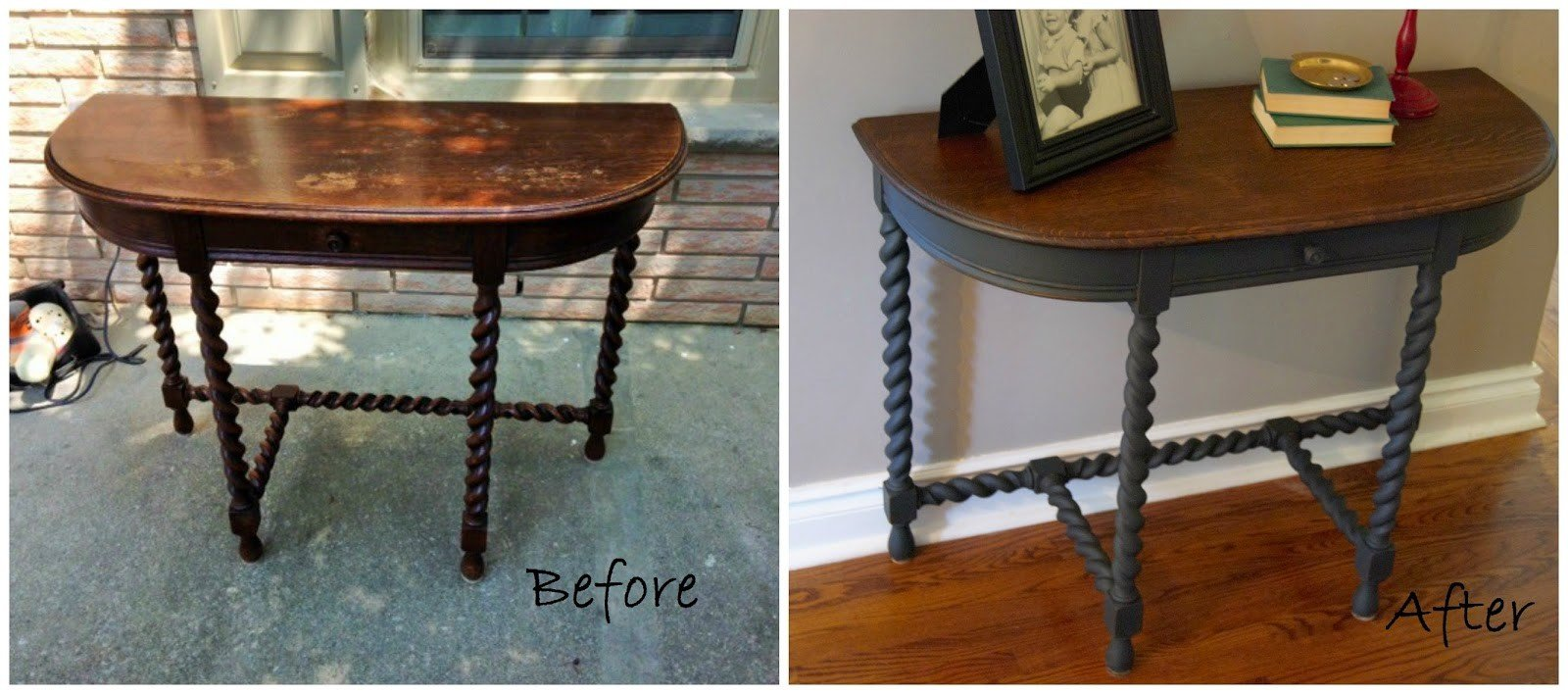 Mahogany Hall Table Before & After!