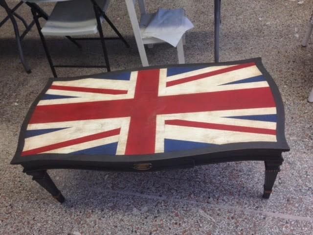Antiqued Union Jack Table