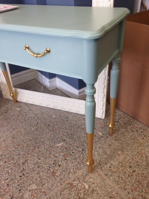 How To Gold Dip A Hall Table