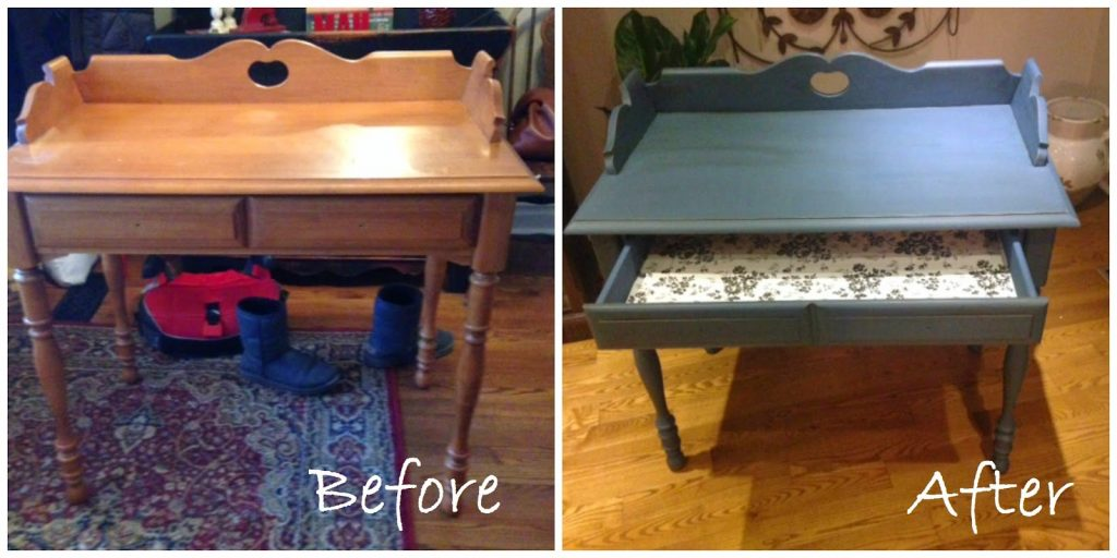 Side Table Before/After