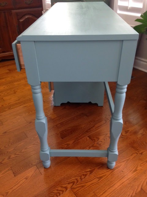 Desk Painted With Chalk Finish Furniture Paint