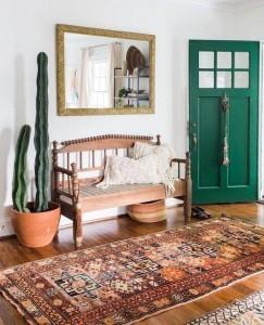 green door and cactus