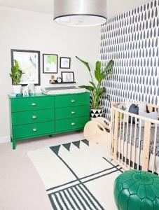green dressor green chair