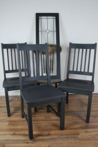annie sloan chalk paint graphite painted chairs and door