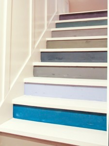 multi-color stairs