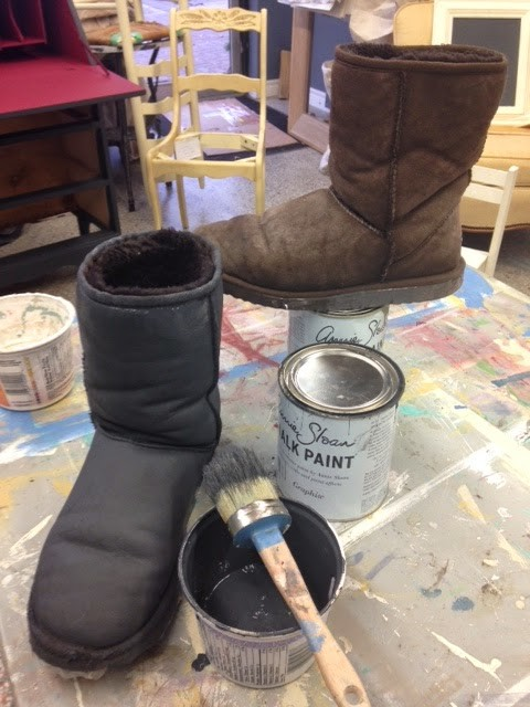 chalk paint boots