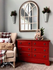 Red Furniture Painted With Chalk Finish Paint