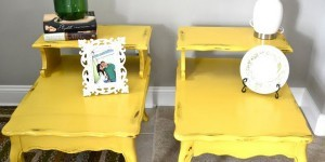 Yellow Furniture Painted With Chalk Finish Paint