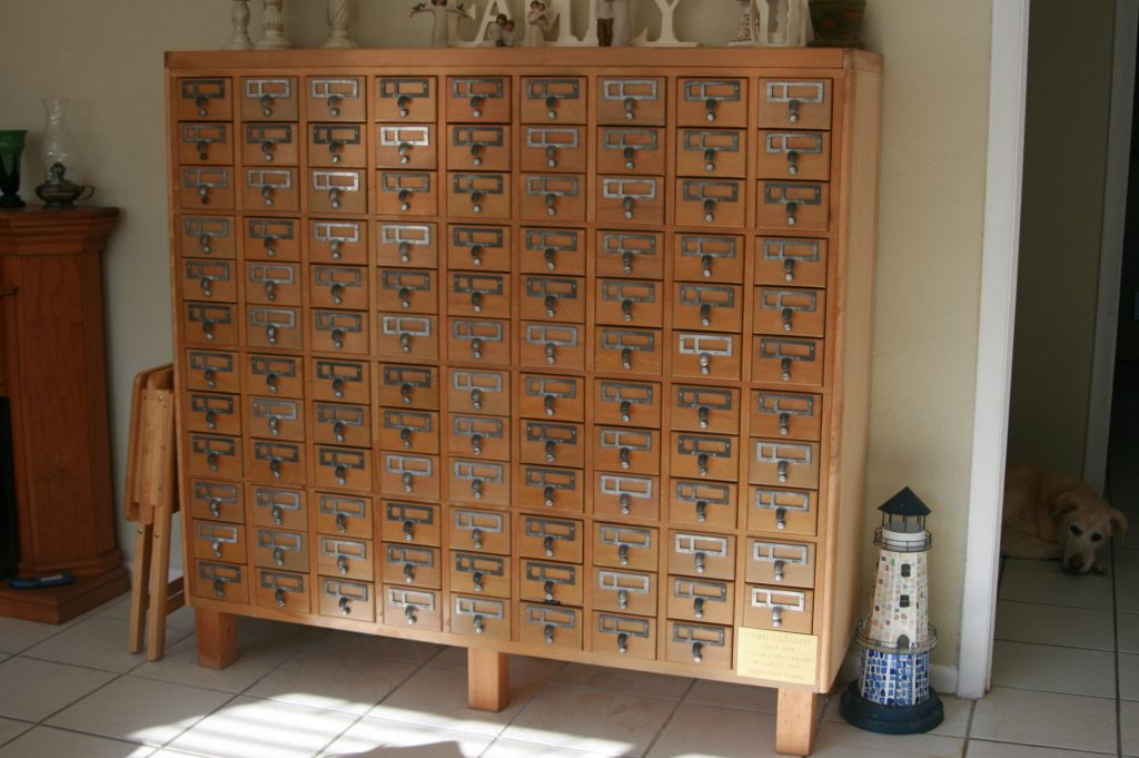 Card Catalog Drawer Pull
