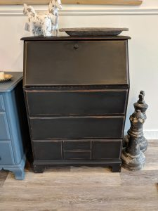 Card Catalog Black Chalk Finish Paint