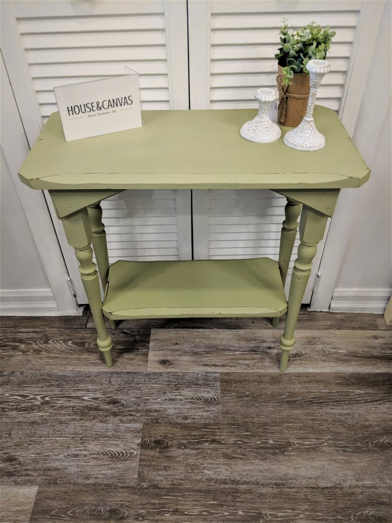 Side Table Make Over With House&Canvas Chalk Finish Paint!