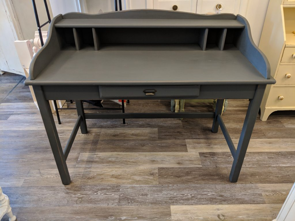 "Desk Painted With ""Cityscape"" Chalk Finish Paint"