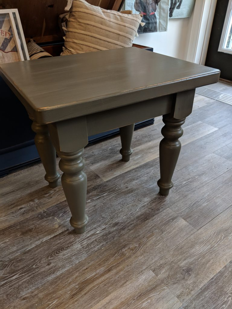 Painting Hardwood Furniture With Chalk Finish Paint