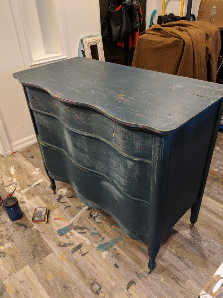Dresser Painted With Chalk Finish Paint