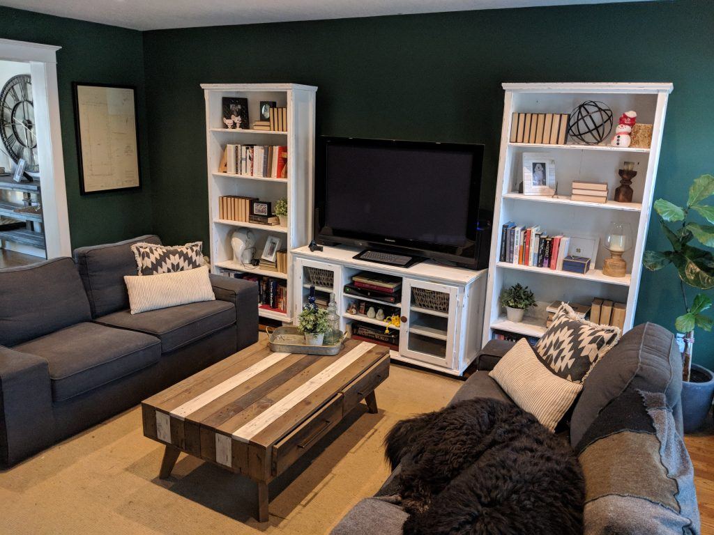 Green Is The New Black!? Painting A Living Room Dark Green