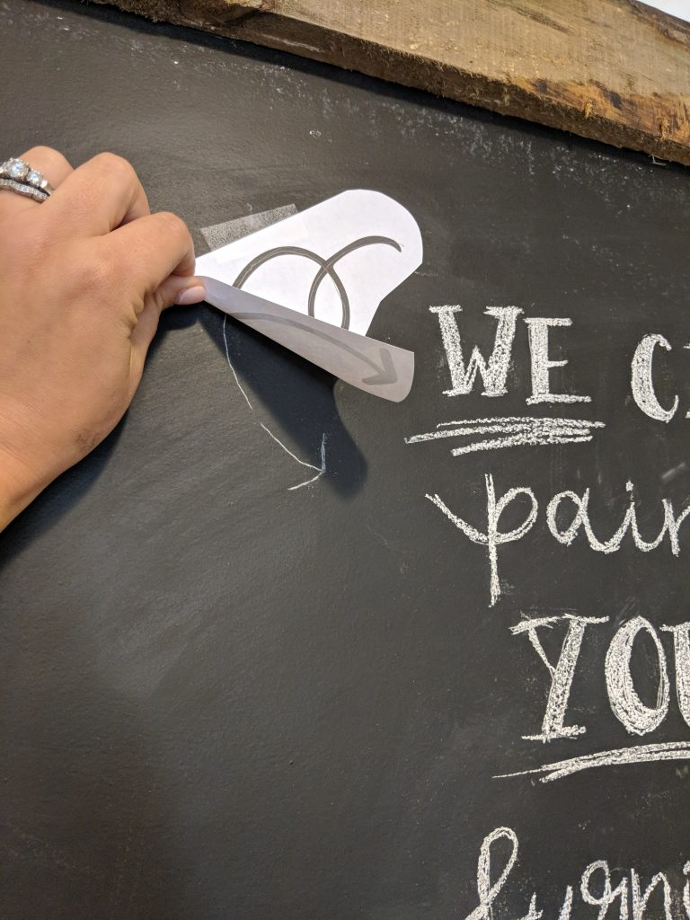 DIY Super Easy Chalkboard Drawing and Letters!