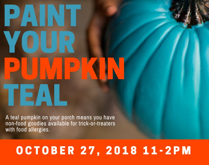 Paint Your Pumpkin Teal In Support Of Children's Allergies – At Our Burlington Location