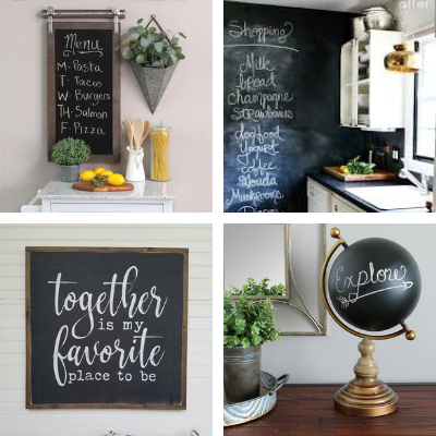 How To Make A Chalkboard With Chalk FInish Paint