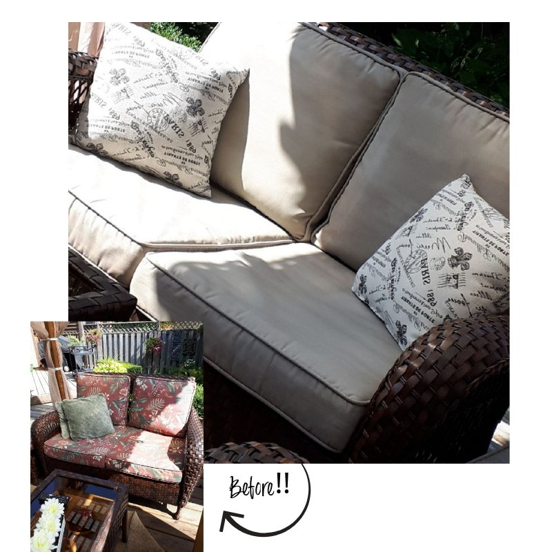 Painting Outdoor Cushions With Chalk Finish Paint