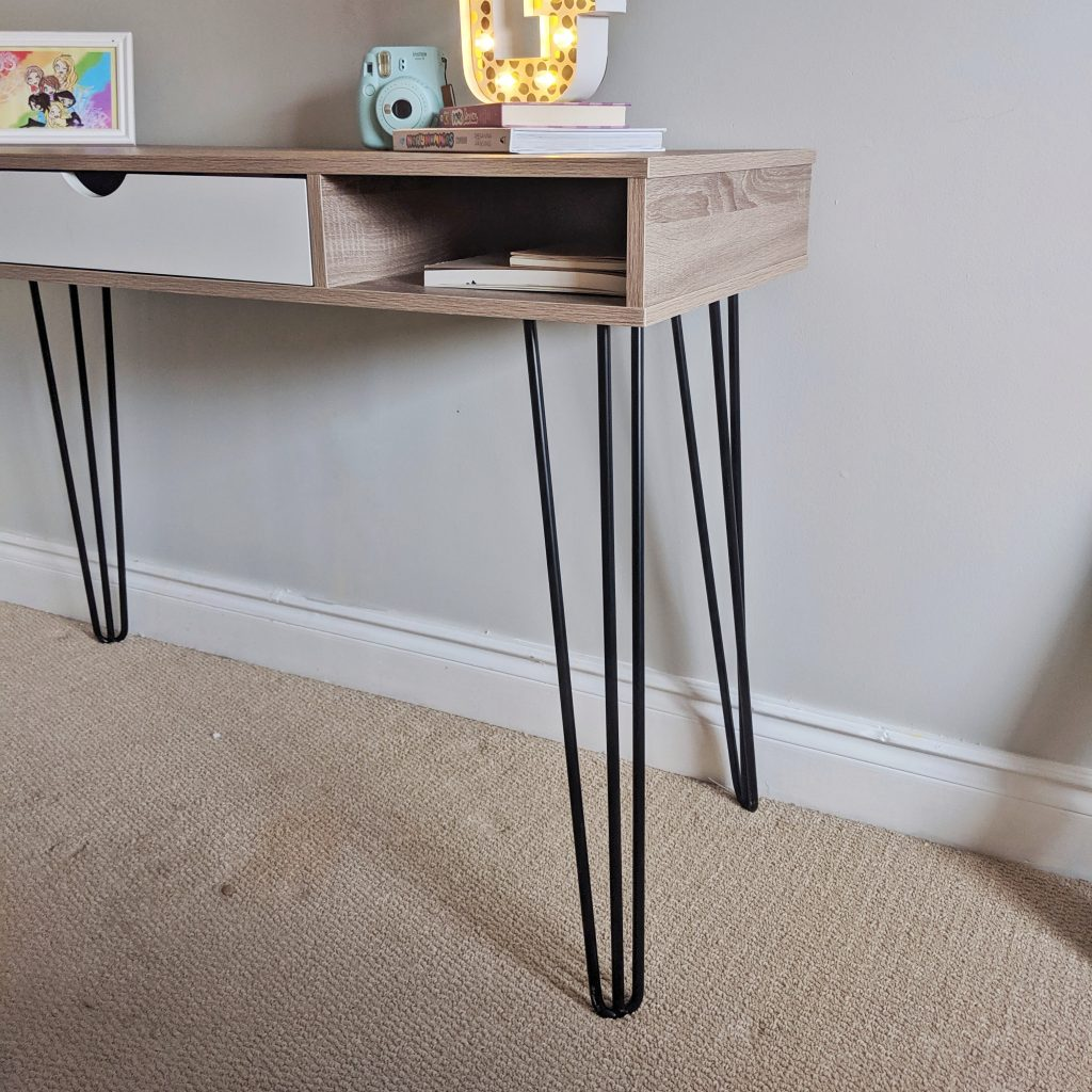 Upgrading A Big-Box Store Desk With Hairpin Legs