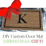 DIY Custom Door Mat Christmas Gift
