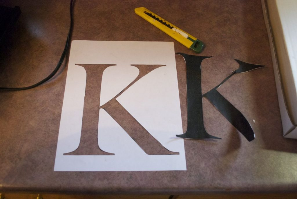 custom door mat letter stencil