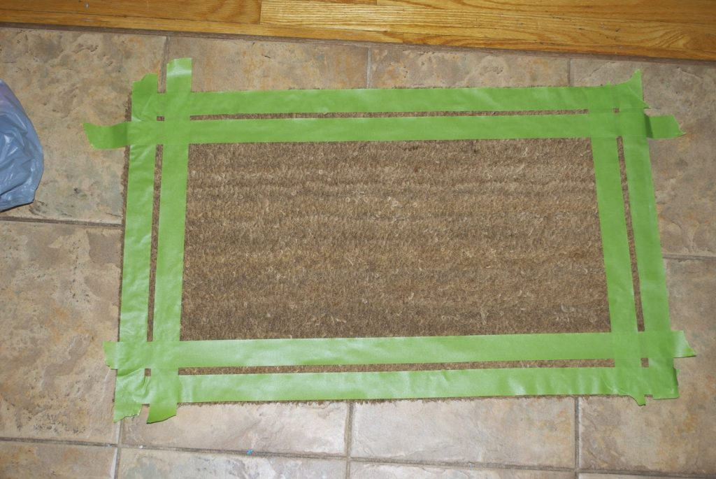 custom door mat uncut tape