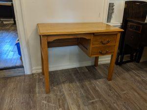 soid wood desk