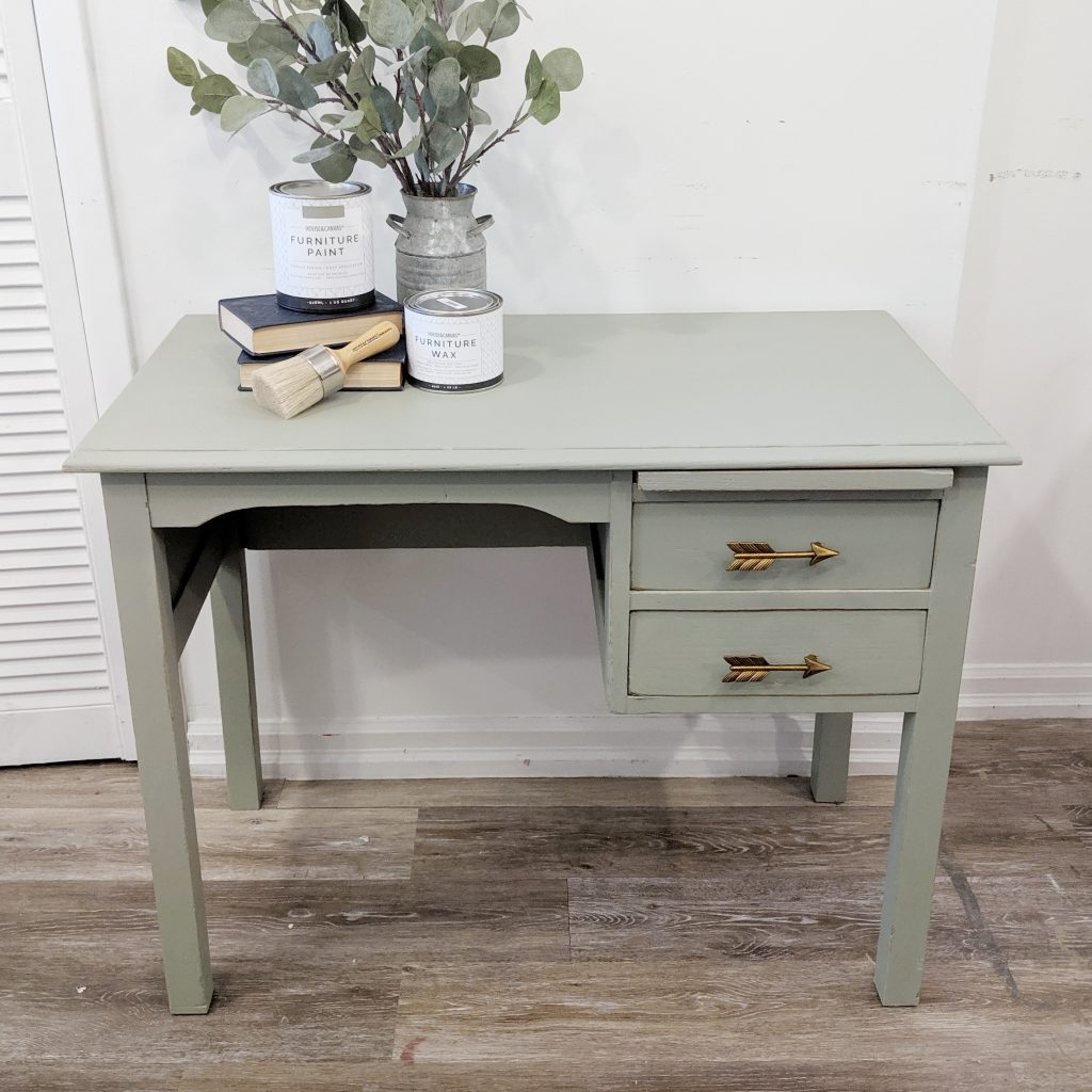Silver Sage Wooden Painted Desk