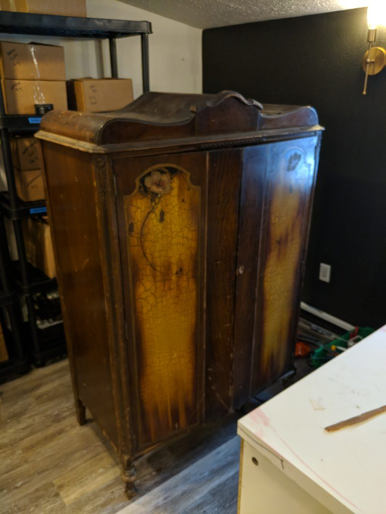 Refinishing An Antique Armoire