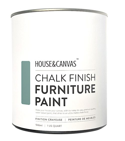 house and canvas chalk finish paint can